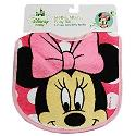 Pink Disney Minnie Mouse Face Baby Bib