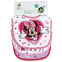 Regent Baby Product Corp Minnie Mouse White Bib, W